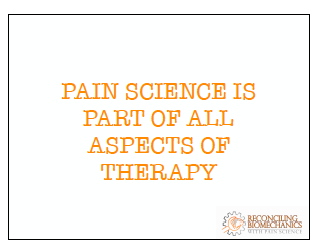 Reconciling Biomechanics with Pain Science – Course Review